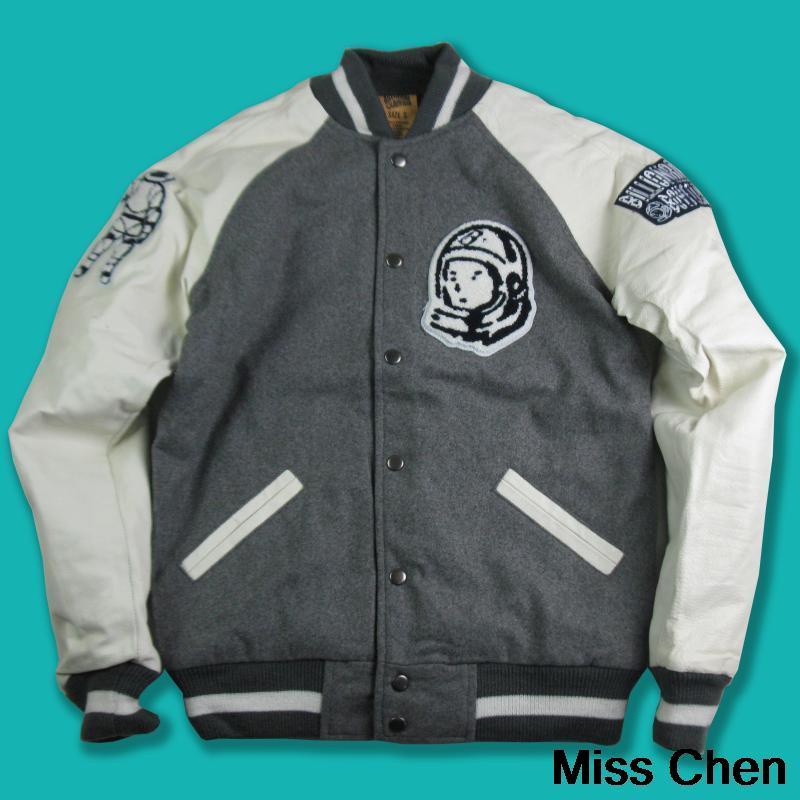 Miss Chen authentic B Boys Club BBC warm with padded baseball jacket Raglan PU leather sleeves jacket(China (Mainland))