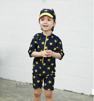 2015 summer Children Baby boys swimming swimwear swimsuit star blue color