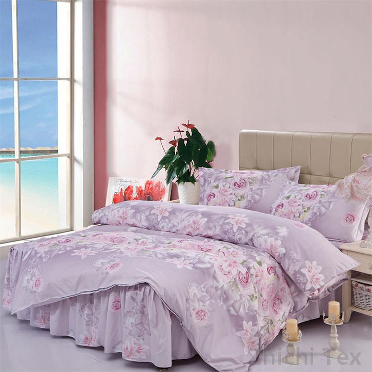Home textile purple flower design parure de lit duvet cover pillowcase twin f - Parure de lit zara home ...