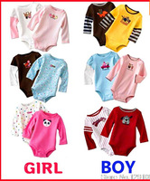 Carters 100% Cotton Baby Long-sleeved Romper Newborn Baby Boy Girl Rompers Kids Jumpsuit Climbing Clothing 0-24 Months