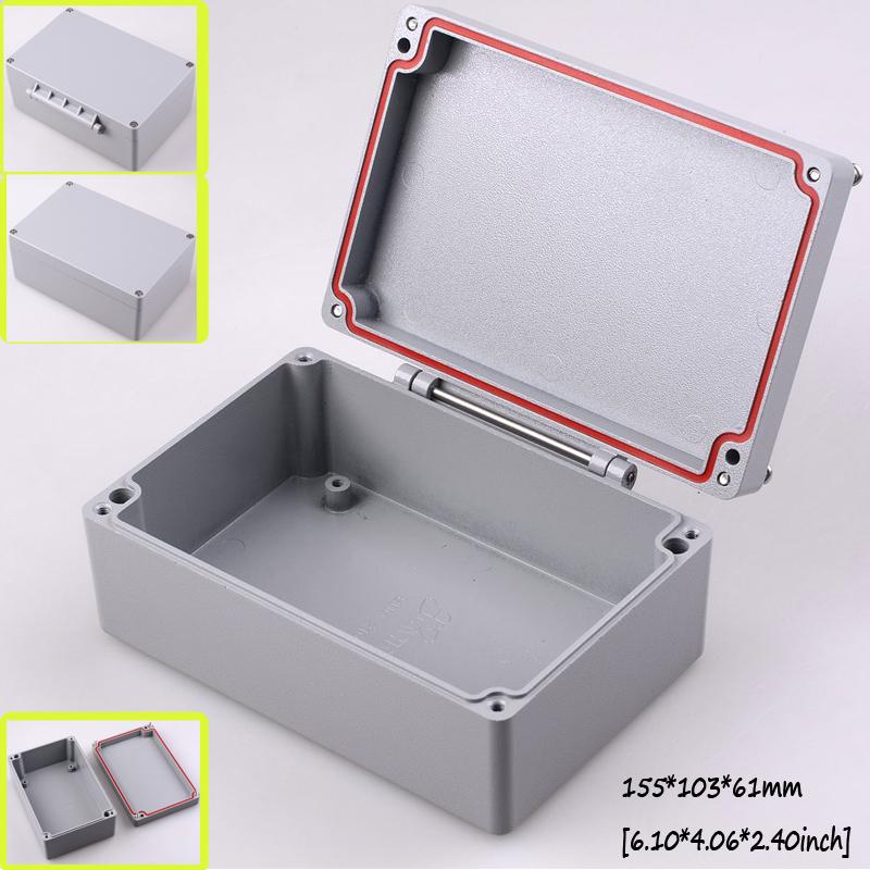 [Two style] waterproof aluminum junction box aluminium extrusion enclosure diy electrical housing distribution box 155*103*61mm(China (Mainland))