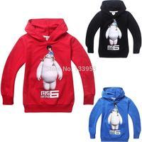 Wholesale 5pieces/lot Big Hero 6 Kids Unisex 3-8Y Sweatshirt Cute Girls Hoodies Girls Cotton Jacket Boys Children Clothes DA617