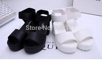 Summer new arrival 2015 platform white fashion platform soft PU women's high-heeled shoes thick heel sandals