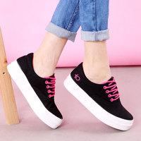 2015 spring platform low canvas shoes female shoes platform shoes casual shoes women's skateboarding shoes