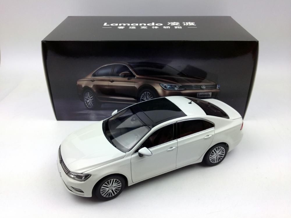 1:18 Shanghai Volkswagen Lamando Brown/White/Blue Diecast Metal Model Car(China (Mainland))