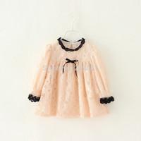 2015 Girl's summer lace bow dress , girls dresses , baby girl dress , 5pcs/lot    FJP68