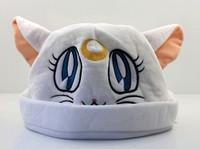 EMS 30pcs Sailor Moon Artemis Cat Cap Cosplay Beanie Hat Sailor moon Cartoon Plush Hats 20*30cm