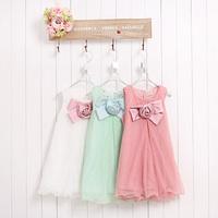 Summer Girls Dress Pleats Tulle Dress Children Girl's Princess Dress Bowkmot Dress for Baby Girls Kids Clothes Vestidos Meninas