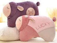 Metoo 1pc 45cm cartoon soft lucky sheep plush rest pacify doll hold pillow cushion stuffed toy children women gift