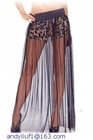 Sexy Gauzy Maxi Skirt with Leopard Shorts LC71076