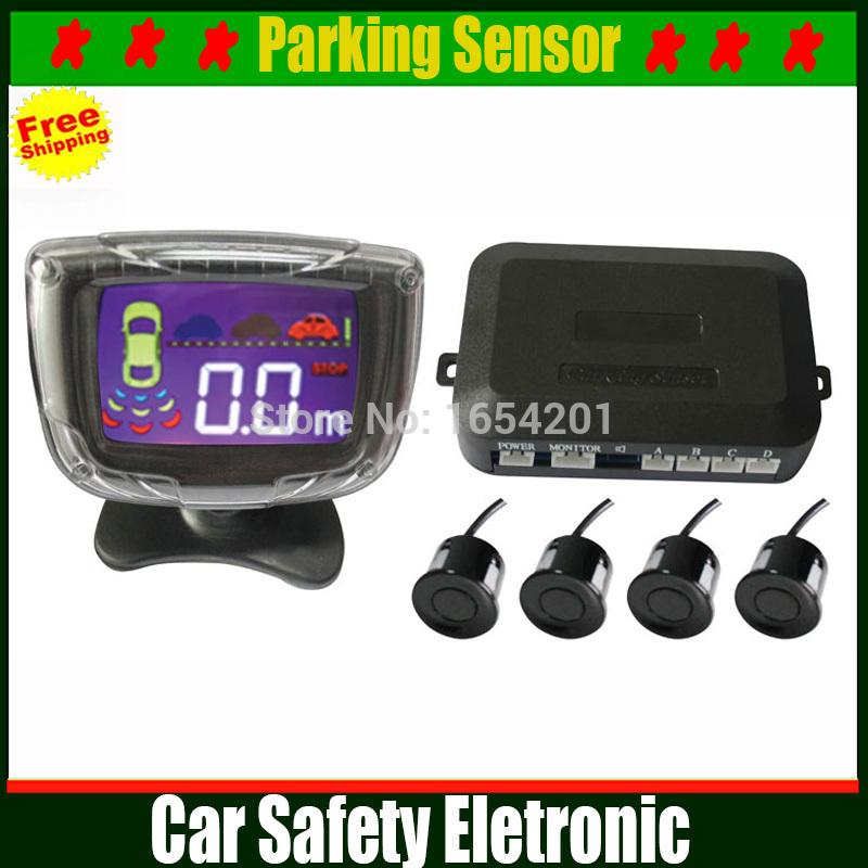4 Sensors 22mm Buzzer LCD Parking Sensor Kit Display Car Reverse Backup Radar Monitor System 12V 6 Colors Parking Assist(China (Mainland))