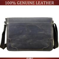 NEW 2015 Crazy Horse Leather men's messenger bags business Vintage Genuine Leather Shoulder bag men briefcase bags