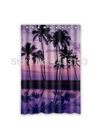 Custom Palm Tree Hawaiian Fashion Home Living Waterproof Bathroom Best Nice Decor Shower Curtain 120x183cm FREE SHIPPING U06-68(China (Mainland))