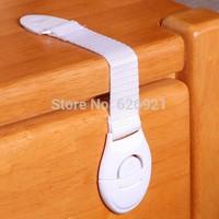 10pcs/lot Lengthened bendy Security Fridge Cabinet Door locks Drawer Toilet Safety Plastic Lock For Child Kids baby Safety Care
