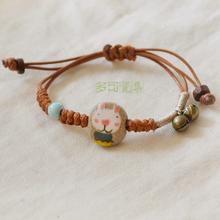 2015 NEW Porcelain bracelet girls honey ceramic bracelet cat pattern or rabbit pattern