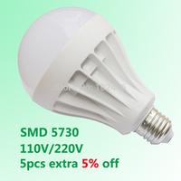 Wholesale SMD 5730 Led Light Bulb Led E27 3W 5W 7W 9W 12W 15W 18W LED Lamp 110V 220V Cold Warm White Bulb Led Spotlight Lamps