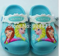 wholesale 3D pattern garden shoes cartoon ANNA  Elsa sandals girls sandals,3 color size c6-j3.free shipping