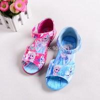 2015 New Fashion Children summer cartoon shoes girl cartoon Sandals anna elsa princess shoes for kids Cute beach shoes