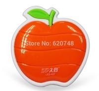 2pcs/pack light control sensor apple shape night lights, energy saving  LED light, LED-427, free shipping