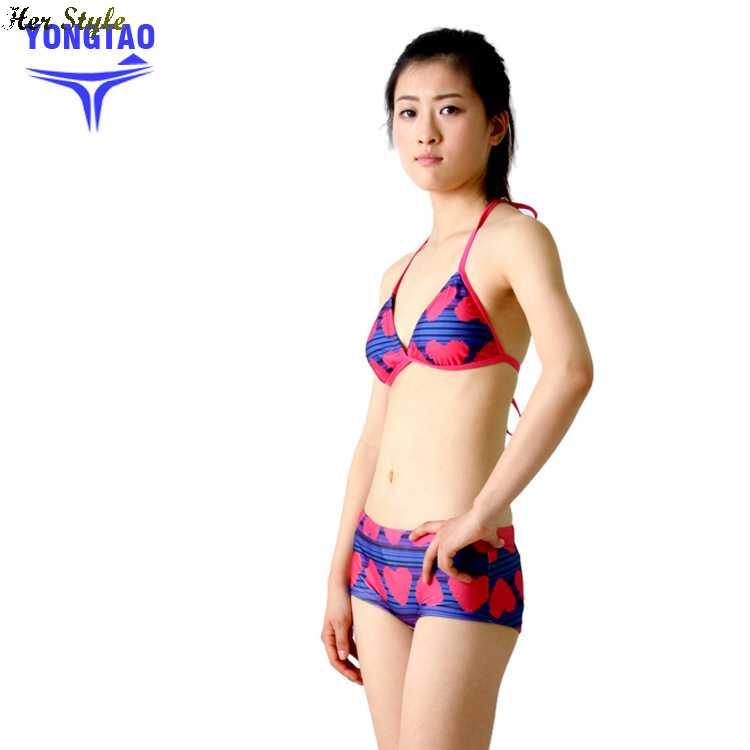 Free Shipping sexy bikini swimsuit company hot female swimsuit models swimsuit small chest gathered(China (Mainland))