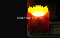 2pcs/pack light control sensor French fries shape night lights, LED energy saving 0.1W, LED-403, free shipping