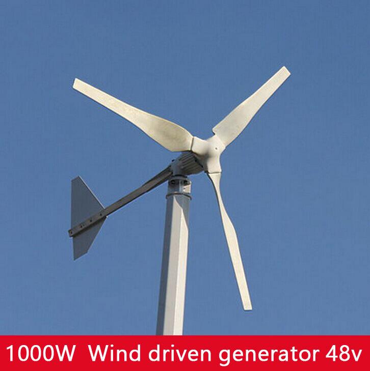 Wind turbines 3 Leaf blade Wind power generation 48V 1000W high power best product(China (Mainland))