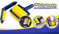 2 pcs Set Reusable Stick It Buddy Sticky Lint Roller Pet Hair Remover Brush FS