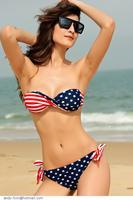 Hot Summer Women Swimwear swimsuit Sexy American Flag Print Push-up Bikini biquini Set bathing suit maillot de bain