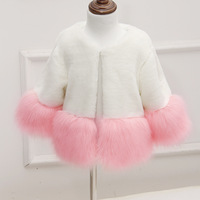2015 Baby Cotton-Padded Thick Patchwork Faux Fur Coat