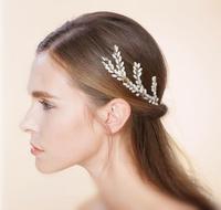 3pcs Wedding Hair Pins And Clips Handmade Bridal Hairpins With Pearl Jewelry Rhinestone Hairpin Hair Jewelry WIGO0413