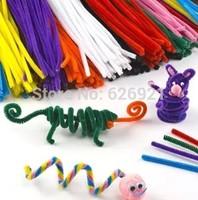 2015new100 pcs/set Children's Educational Toys DIY toys materials shilly-stick Plush Stick handmade art Christmas toys baby doll