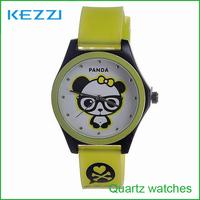 Women Watches Glass Rushed 2015 Limited Panda Cartoon Boy And Girl Watch Fashion Students Kid Children Wholesale Free Shipping