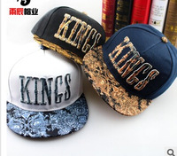 The new Kings letter printing flat brim hat The streets of hip-hop cap hip-hop cap