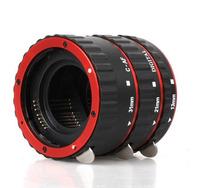 Lens Adapter Red Metal Mount Auto Focus AF Macro Extension Tube/Ring for  Canon EF-S Lens T5i T4i T3i T2i 100D 60D 70D 550D6D 7D