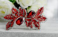 Bridal Hair Comb Rhinestone Hair Clips Flower Bridal Comb For Hair Jewelry Crystal Wedding Headpiece Ornaments WIGO0414