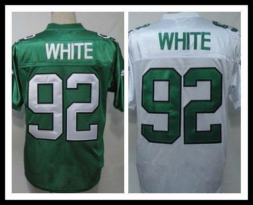 Philadelphia #92 Reggie White Throwback Jersey M&N american football Jerseys,Embroidery Logo,Accept Mix Order(China (Mainland))