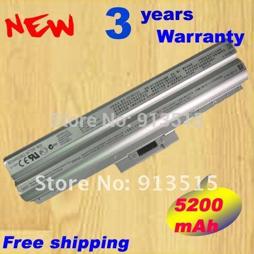 5200mAh Silver Laptop Battery For Sony BPS13 VGP-BPS13/Q BPS13/S VGP-BPL13 VGP-BPS13 VGP-BPS13/S(China (Mainland))