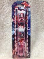 School & Educational Supplies Big Hero 6 Baymax Stationery Set (pencils,pencil caps,eraser,ruler,sharpener) 20 sets/Wholesale