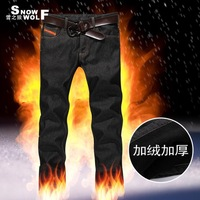 Snow Wolf 2013 new winter thick velvet jeans straight men Dongkuan Korean fashion casual wave