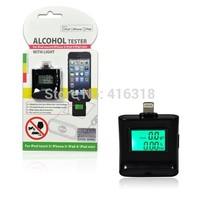 DHL 100pcs/lot Wholesale iPega PG-I5006 Digital Backlight Alcohol Tester Breathalyzer for iPhone 6 5 5S iPad 4/Mini iPad Air
