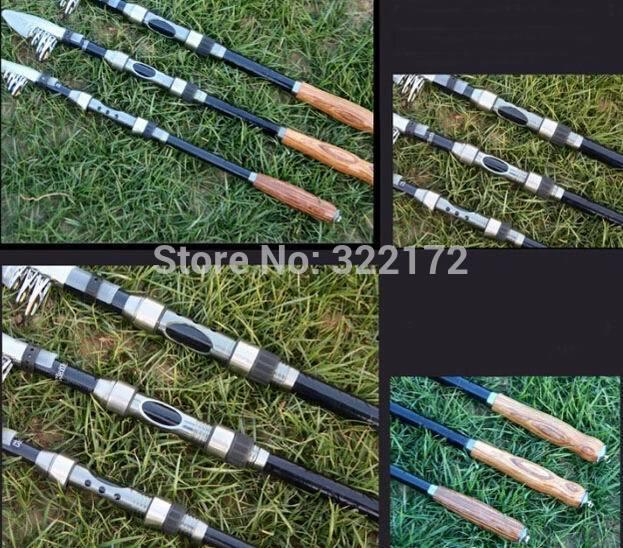 Telescopic Carbon Ocean Sea Rock Fishing Rod Retail/PC Free Shipping(China (Mainland))