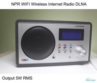 NPR WIFI Wireless Internet Radio DLNA Multimedia Music Radio Player Support LAN Port  5W RMS 12 Clock and Alarm