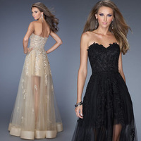 New Style Women Bra short in front long Dresses Sexy Wrapped chest dress Evening Dresses