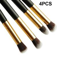 2015 Fashion 1Set/4pcs Professional Mascara Makeup Brush Set Kit Foundation Eyeshadow Eye Brushes Cosmetic Tools Free Shipping