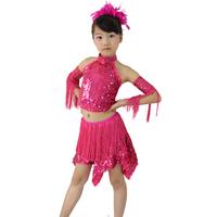 Latin Dance Dress Women Girls 90-150cm Latin Fringe Dress Ballroom Dance Costume Dancing Clothing regata feminina