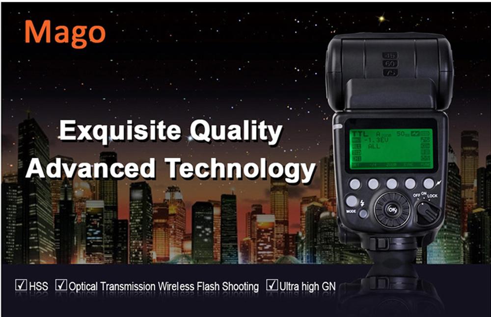 High quality Camera Speedlite Pixel Mago Flash Speedlite Master High Speed Sync TTL 1/8000 GN65 for Canon Camera(China (Mainland))