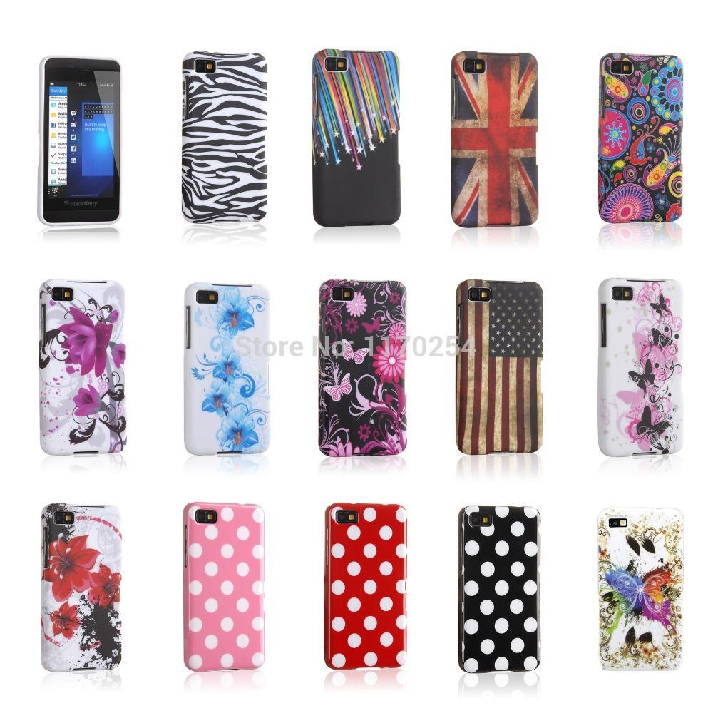 Art Butterfly Flower Pattern Design TPU Silicone Protector Phone Case for BlackBerry Z10 Z 10 BlackBerryZ10 Back Cover SKin Bag(China (Mainland))