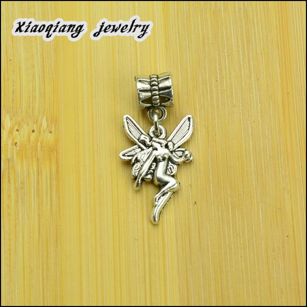 Free shipping 25pcs Angel Tibetan silver big hole pendant fit Pandora charm bracelet DIY pendant XQ0035