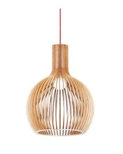 EMS Free Shipping E27 Pendant Lamp Handmade Light Bentwood Suspended Lighting Wooden Shade Hanging Light LBMP-SM(China (Mainland))