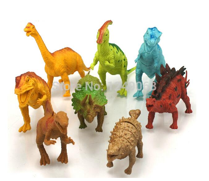 8 Pcs/set Dinosaurs Toys Plastic Animal Model Doll Child Toy Dinosaur Model Dinosaurs Figures Action Toy Kids Best Gift(China (Mainland))